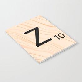 Scrabble Letter Z - Scrabble Art and Apparel Notebook