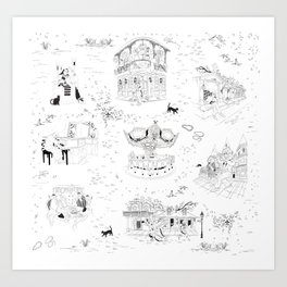 New Orleans Toile Art Print