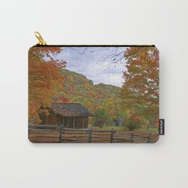 Log Cabin in Autumn Carry-All Pouch