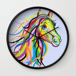 Horse of a Different Color Wall Clock
