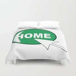 Computer Icon Home Duvet Cover