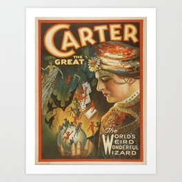 Vintage poster - Carter the Great Art Print