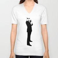 storm trooper V-neck T-shirts featuring Trooper... Storm Trooper 2 by Derek Donovan