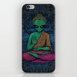 Alien Buddha iPhone Skin