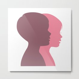 a Boy and a Girl Metal Print