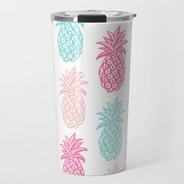 Pineapple Summer (pink and blue) Travel Mug