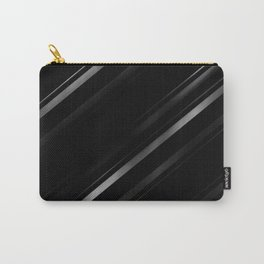 Minimalist Black Linear Abstract Print Carry-All Pouch