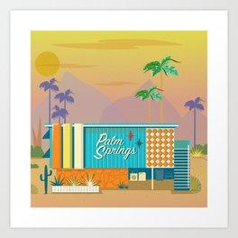 Palm Springs Apartment Art Print