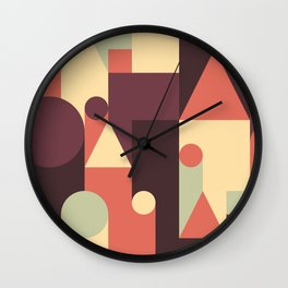 Abstract Pattern Background Wall Clock