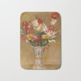 "Auguste Renoir ""Tulipes (Tulips)"" Bath Mat"