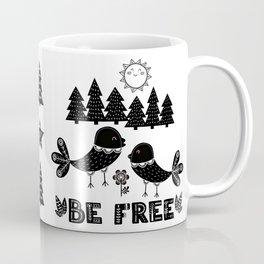 Be Free Birds In Cute Scandinavian Style Coffee Mug