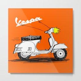 Vespa's Baloon Metal Print