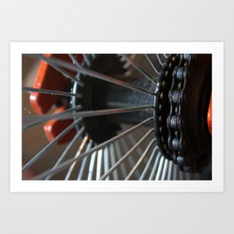 Little Wheels Art Print