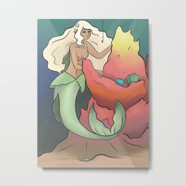 Mermaid Reef Metal Print