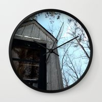 fallout Wall Clocks featuring Grizzly Fallout by Keeto