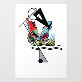 Minimal forms Art Print