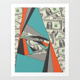 Colorful Currency Collage Art Print