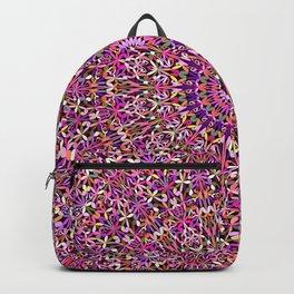 Colorful Girly Lace Garden Mandala Backpack