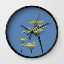Fennel flowers Wall Clock