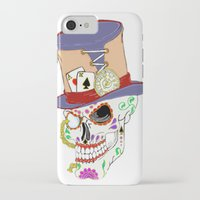 steam punk iPhone & iPod Cases featuring Steam Punk Sugar Skull by J&C Creations