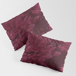 Burgundy Chrysanthemums Pillow Sham