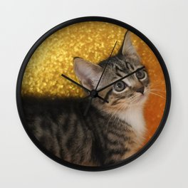Cat Portrait Wall Clock