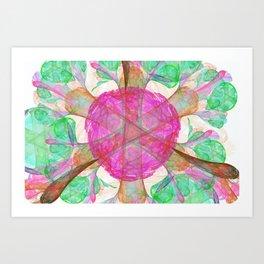 Gardenia Nebulae Art Print