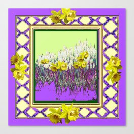 PANTENE ULTRA VIOLET PURPLE DAFFODIL GARDEN DECORATIVE ART Canvas Print