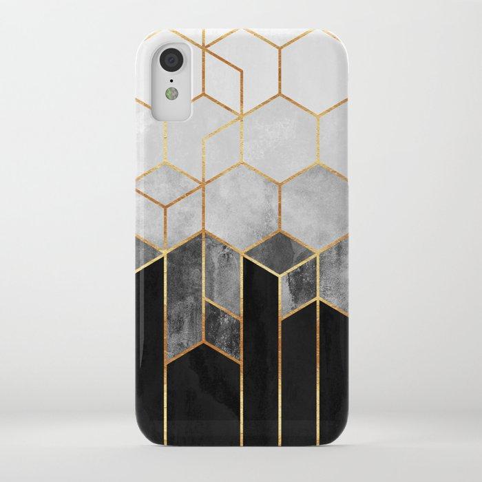 Charcoal Hexagons iPhone Case