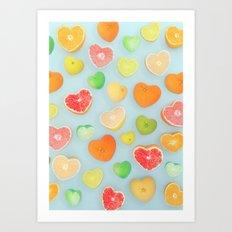 Juicy Hearts Art Print