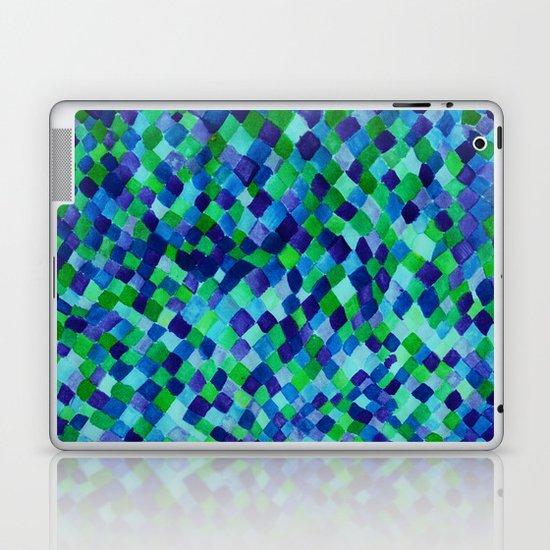 Watercolour Diamonds Blue Laptop & iPad Skin