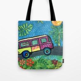 Volki Van Journey Colage Painting Tote Bag