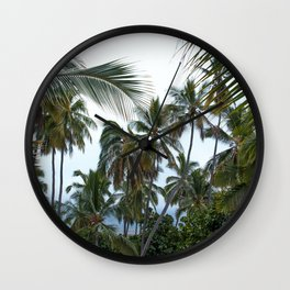 Place of Refuge Palm Trees Wall Clock