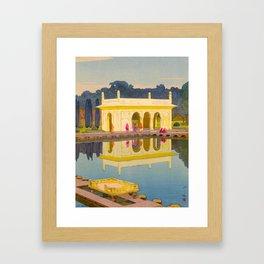 The Shalimar Gardens in Lahore Japanese Woodblock Print Hiroshi Yoshida Framed Art Print