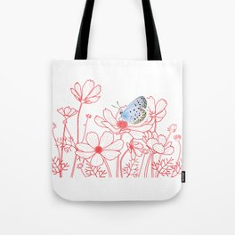 Cosmos and Butterfly Tote Bag