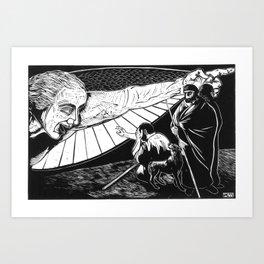 Announcement to Shepherds Art Print