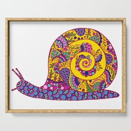 Colorful Snail Serving Tray