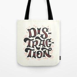 DISTRACTION // Dark Gray Tote Bag