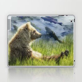 A Little Bear Dreams of Sweet Tomorrows Laptop & iPad Skin