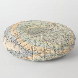 Vintage Michigan Geology Map (1873) Floor Pillow