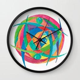 Eye Balls in Abstract Wall Clock