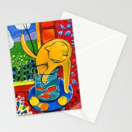 Henri Matisse - Cat With Red Fish still life painting Stationery Cards