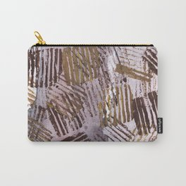 Abstract striped art painting Carry-All Pouch