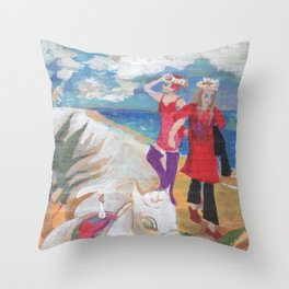 Private girls 13 Throw Pillow