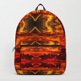 Abstract Pattern Hell Evil Apocalyptic Artwork Backpack