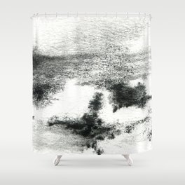 Black/white#2 Shower Curtain