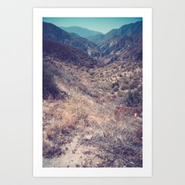 Into Angeles National Forest Art Print