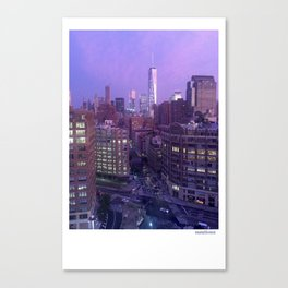 Moonlight City Canvas Print
