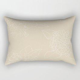 Hydrangeas Beige v. Rectangular Pillow