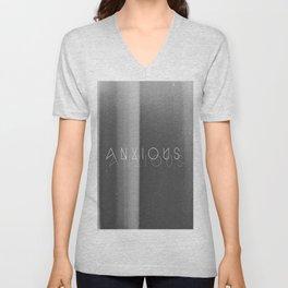 Anxious Unisex V-Neck
